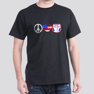 Peace, Love, Cloth Dark T-Shirt