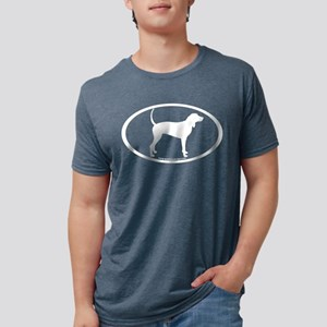 Coonhound Oval Women's Dark T-Shirt