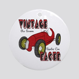 Vintage Sprint Car Racer Ornament (Round)
