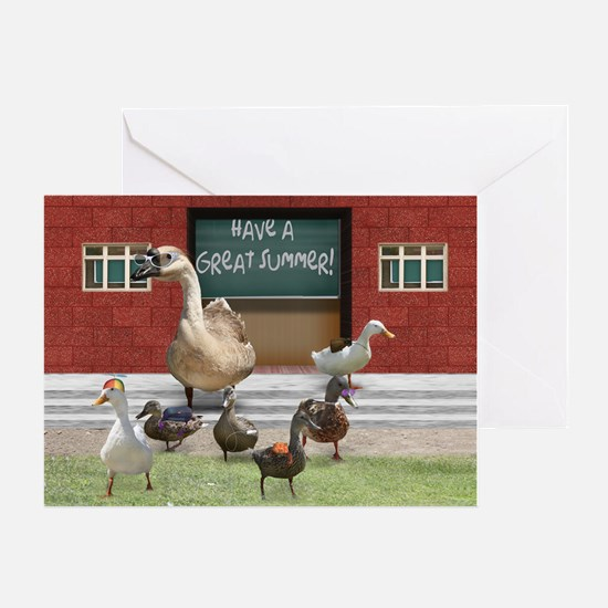 Unique Duck teacher Greeting Card