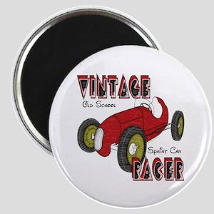Vintage Sprint Car Racer Magnet