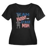 Team Parent Women's Plus Size Scoop Neck Dark T-Sh