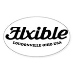 Flxible Oval Sticker
