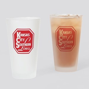 KC Lines Drinking Glass