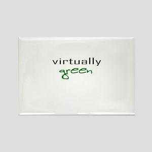 Virtually Green Rectangle Magnet
