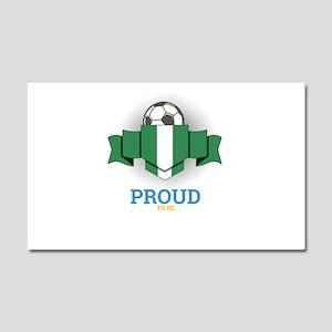 Football Nigerians Nigeria Socc Car Magnet 20 x 12