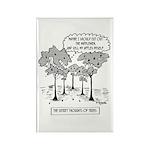 Tree Cartoon 1666 Rectangle Magnet (10 pack)
