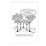 Tree Cartoon 1666 Postcards (Package of 8)