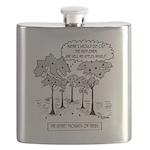 Tree Cartoon 1666 Flask
