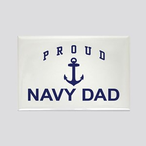 Proud Navy Dad Rectangle Magnet