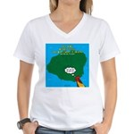 Kauai Weather Forecast Women's V-Neck T-Shirt