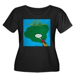 Kauai We Women's Plus Size Scoop Neck Dark T-Shirt