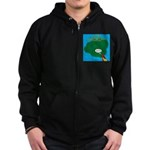 Kauai Weather Forecast Zip Hoodie (dark)