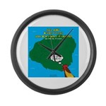 Kauai Weather Forecast Large Wall Clock