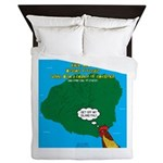 Kauai Weather Forecast Queen Duvet