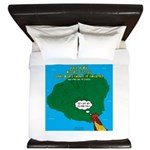 Kauai Weather Forecast King Duvet
