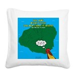 Kauai Weather Forecast Square Canvas Pillow