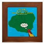 Kauai Weather Forecast Framed Tile