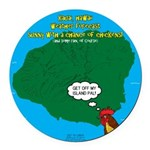 Kauai Weather Forecast Round Car Magnet