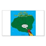 Kauai Weather Forecast Sticker (Rectangle 50 pk)