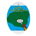 Kauai Weather Forecast Oval Ornament