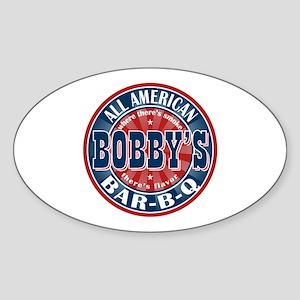 Bobby's All American Bar-b-q Oval Sticker