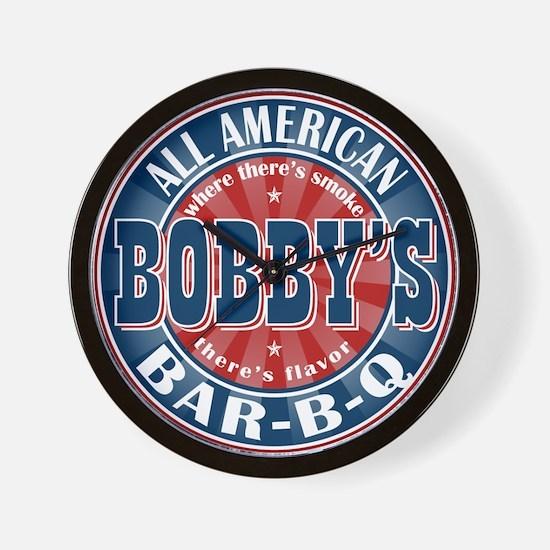 Bobby's All American Bar-b-q Wall Clock