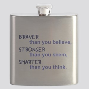 inspire quote - braver stronger smarter Flask