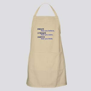 inspire quote - braver stronger smarte Light Apron