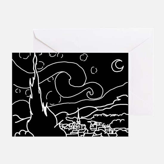 The Starry Night - Greeting Card