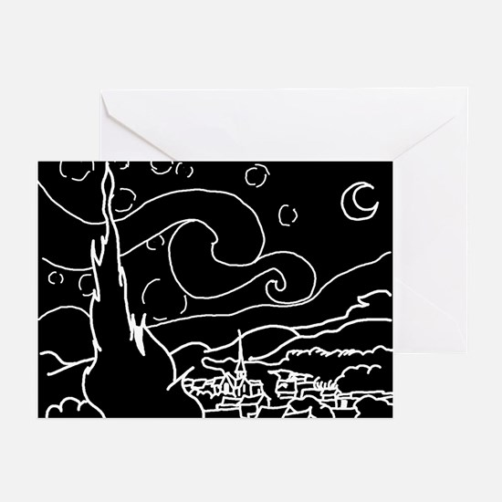 The Starry Night - Greeting Cards (Pk of 10)