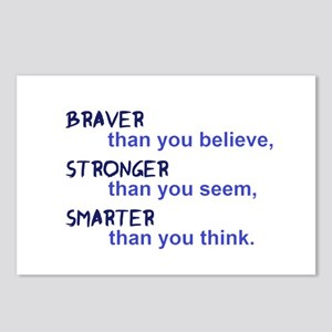 inspire quote - braver st Postcards (Package of 8)