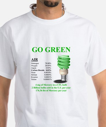 Go Green With Mercury - White T-Shirt