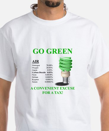 Go Green Convenient Excuse - White T-Shirt