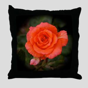 Shreveport Orange Rose Throw Pillow