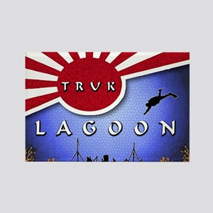 Truk Lagoon Wreck Diver Origi Rectangle Magnet