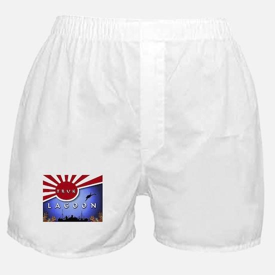 Truk Lagoon Wreck Diver Origi Boxer Shorts