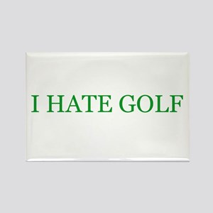 I hate golf Rectangle Magnet