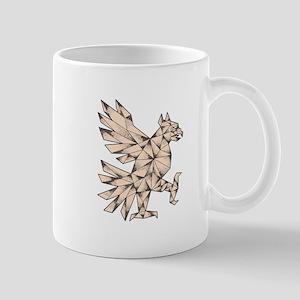 Cuauhtli Glifo Eagle Tattoo Mugs