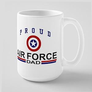 Proud Air Force Dad Large Mug