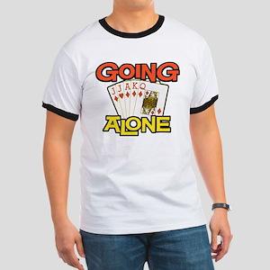 Euchre Going Alone Ringer T