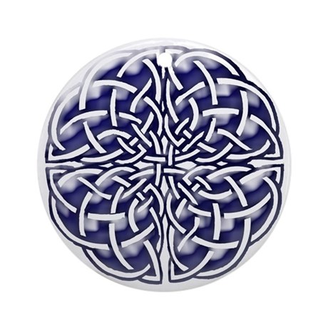 Celtic Stained glass III Ornament (Round)