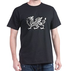 White Dragon Black T-Shirt