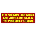 Marx, Stalin, Obama Bumper Sticker (10 pk)