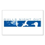 Gulls Night Out Rectangle Sticker 10 pk)