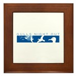 Gulls Night Out Framed Tile