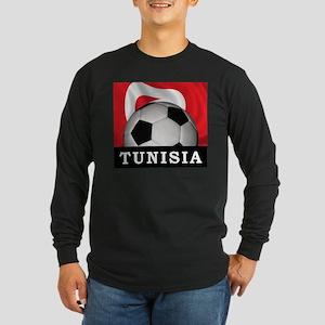 Tunisia Football Long Sleeve Dark T-Shirt