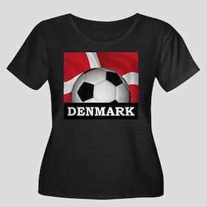 Denmark Football Women's Plus Size Scoop Neck Dark