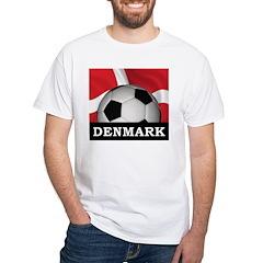 Denmark Football White T-Shirt