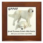Great Pyrenees Potato Chip Framed Tile